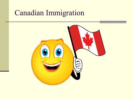 Canadian Immigration. Every year, over 200,000 people are allowed to enter Canada as permanent residents. They complete an application process that provides.