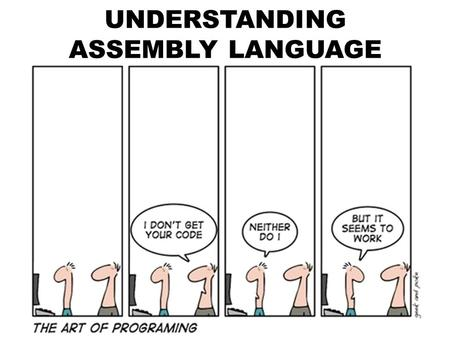 UNDERSTANDING ASSEMBLY LANGUAGE. Instruction A microprocessor executes instructions given by the user. Instructions should be in a language known to the.