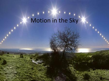 Motion in the Sky. Discussion How do we estimate how far away things are from us in everyday life?