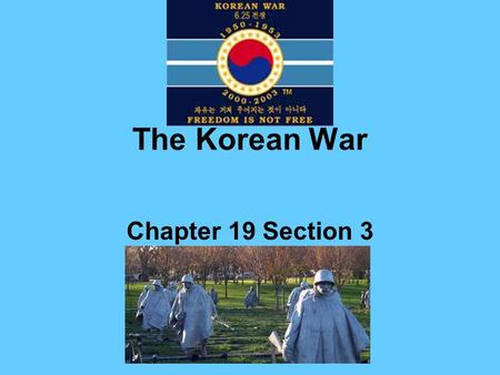 The Korean War Chapter 19 Section 3. *The Chinese Civil War Civil war began in the mid-1920s. Mao Zedong, Communist, won support by redistributing land,