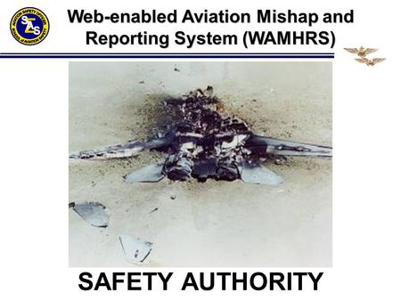 SAFETY AUTHORITY Web-enabled Aviation Mishap and Reporting System (WAMHRS)