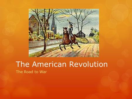 1 Societal Impacts of the American Revolution
