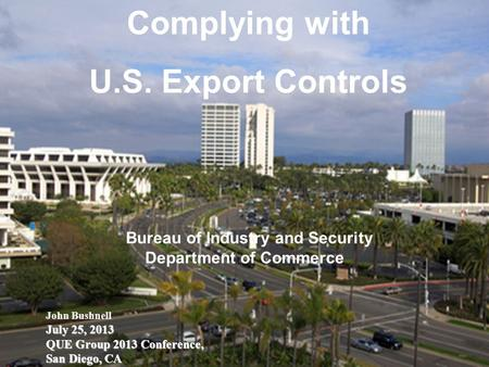 Complying with U.S. Export Controls