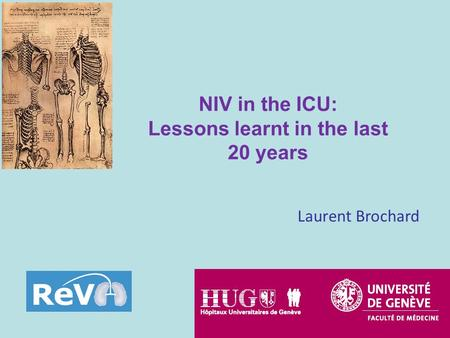 Laurent Brochard NIV in the ICU: Lessons learnt in the last 20 years.