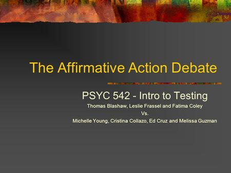 an introduction to history of affirmative action policy More history of affirmative action policies from the 1960s  are  treated equally without regard to race, color, religion, sex, or national origin.