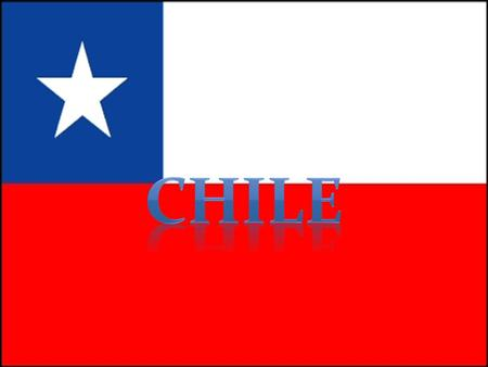 Chile, officially the Republic of Chile, is a country in South America occupying a long, narrow coastal strip between the Andes mountains to the east.