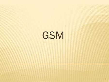 GSM 1.  If you are in Europe, Asia or Japan and using a mobile phone then most probably you must be using GSM technology in your mobile phone.  GSM.