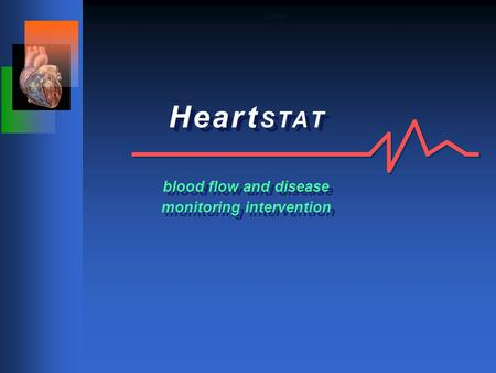 H e a r t S T A T blood flow and disease monitoring intervention Cover.