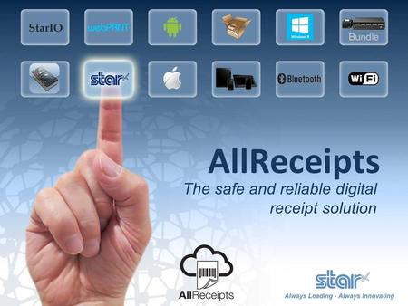 AllReceipts The safe and reliable digital receipt solution.