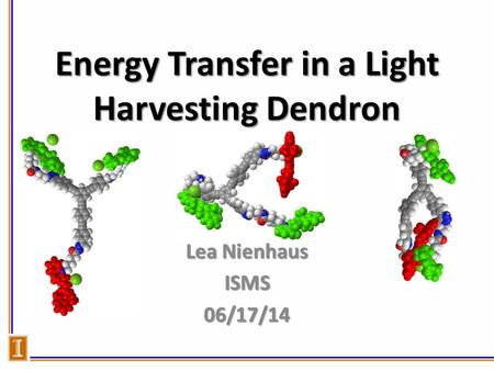 Energy Transfer in a Light Harvesting Dendron Lea Nienhaus ISMS06/17/14.