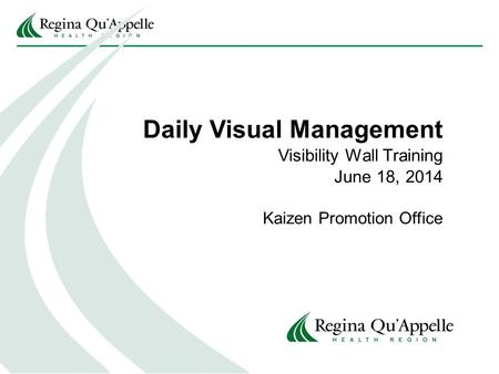 Daily Visual Management