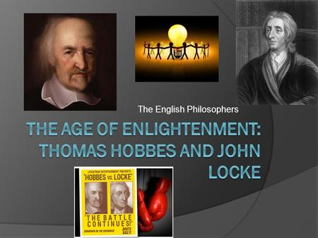an introduction to the life of thomas hobbes and john locke