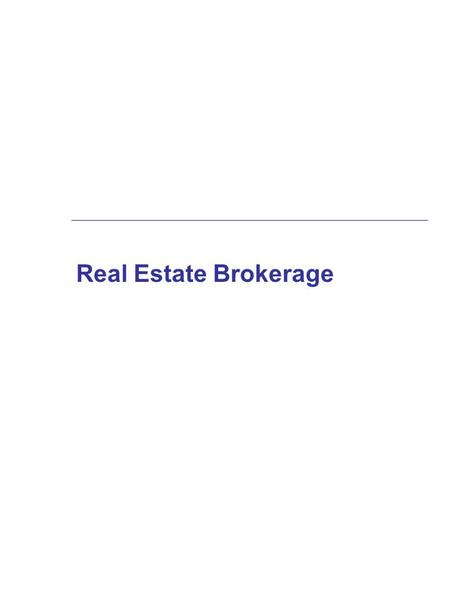 Real Estate Brokerage. The Real Estate Sales Process  Listing agreement  Marketing the property and qualifying buyers  Presentation and negotiations.