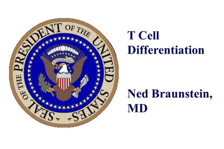 T Cell Differentiation Ned Braunstein, MD. Whether or not an individual makes an immune response to a particular antigen depends on what MHC alleles an.