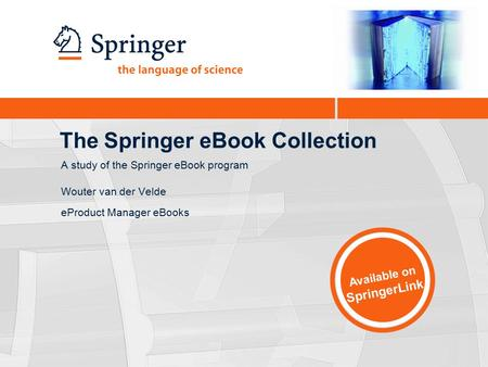 The Springer eBook Collection