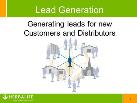 Generating leads for new Customers and Distributors