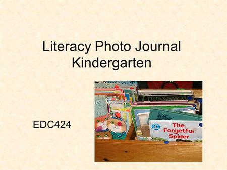 Literacy Photo Journal Kindergarten EDC424. Description: This is the morning message for January for this kindergarten class. Location: The morning message.