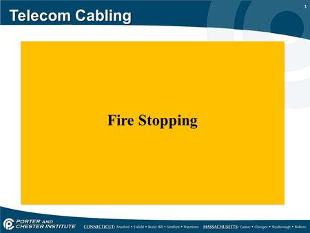 1 Telecom Cabling Fire Stopping. 2 Telecom Cabling The United States has the highest rate of deaths by fire in the world. Approximately 5,300 people die.
