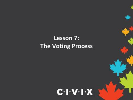 Lesson 7: The Voting Process. Opening Discussion Have you ever voted for something before? How was the winner decided? Did you think the process was fair?