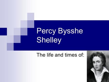 essay on life shelley