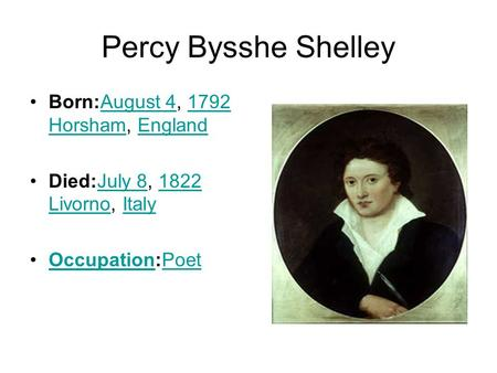 "percy bysshe shelly essay ""was percy bysshe shelley gay"" this essay first explores the quality and effects  of the question, recently posed both in an internet gay magazine, gay today,."