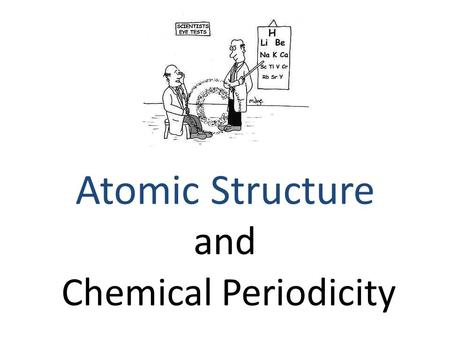 Chemical Periodicity Atomic Structure and. Atomic Size – Quantum mechanical model doesn't sharply define boundary to limit size – Atomic radius: ½ the.