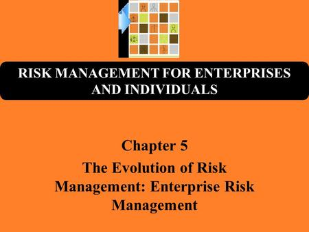 RISK MANAGEMENT FOR ENTERPRISES AND INDIVIDUALS Chapter 5 The Evolution of Risk Management: Enterprise Risk Management.