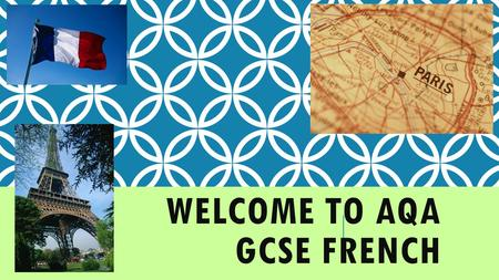 WELCOME TO AQA GCSE FRENCH. HOW THE COURSE IS ASSESSED 1)Unit 1: Listening 46551F; 46551H (20%) This takes the form of an exam paper sat at the end of.