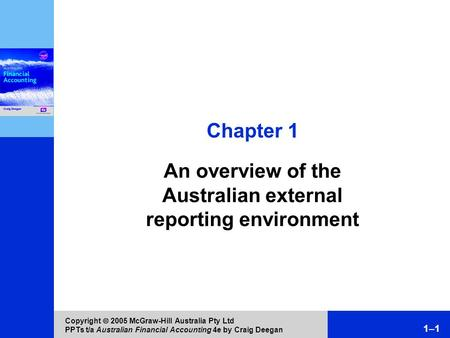 An overview of the Australian external reporting environment