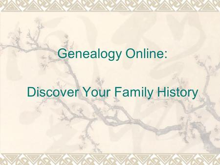 Genealogy Online: Discover Your Family History. Federal Census Records  Every ten years since 1790, the U.S. government has conducted a census of each.
