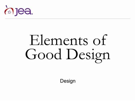 Elements of Good Design Design.