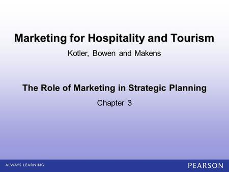 The Role of Marketing in Strategic Planning