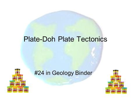 Plate-Doh Plate Tectonics #24 in Geology Binder. What landforms are created by the motion of the lithospheric plates? Essential Question #3.