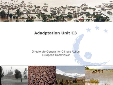 Adadptation Unit C3 Directorate-General for Climate Action, European Commission.