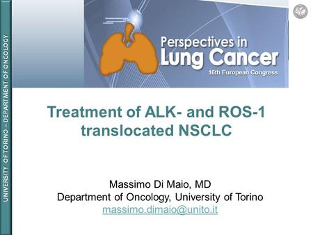 Treatment of ALK- and ROS-1 translocated NSCLC