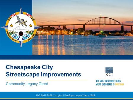 Community Legacy Grant Chesapeake City Streetscape Improvements.