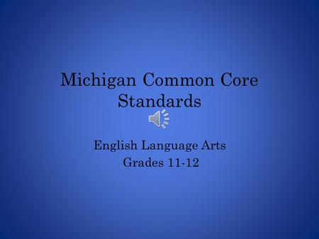 Michigan Common Core Standards
