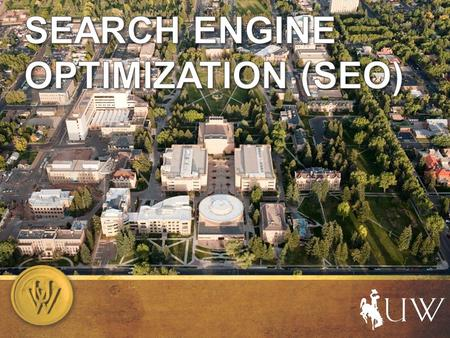 What is SEO? Making your site's content easy to find through external search engines such as Google, Yahoo! and Bing.