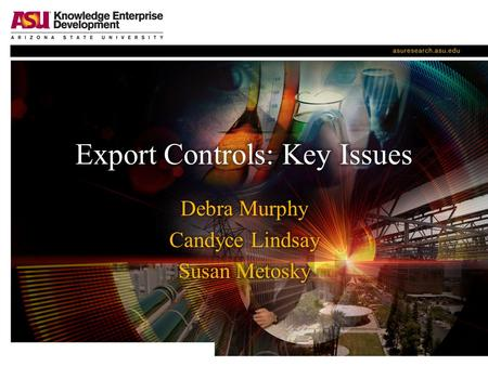Export Controls: Key Issues