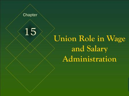 McGraw-Hill © 2005 The McGraw-Hill Companies, Inc. All rights reserved. 15-1 Union Role in Wage and Salary Administration Chapter 15.