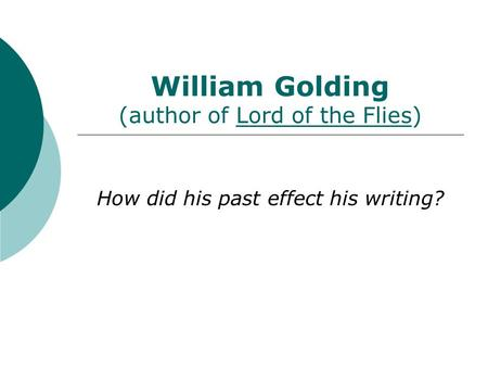 lord of the flies how does golding