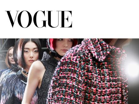 Backgroun d  Vogue is an American fashion and lifestyle magazine. It focuses a lot on fashion as that is its main selling point. It has been around since.