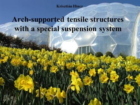 Arch-supported tensile structures with a special suspension system Krisztián Hincz.