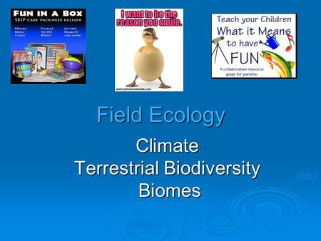 Climate Terrestrial Biodiversity Biomes