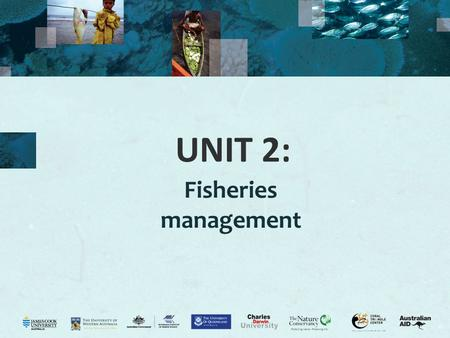 "UNIT 2: Fisheries management. 2 Purpose of management Activity 2.1: Class views on what is fisheries management? What is fisheries management? ""The application."