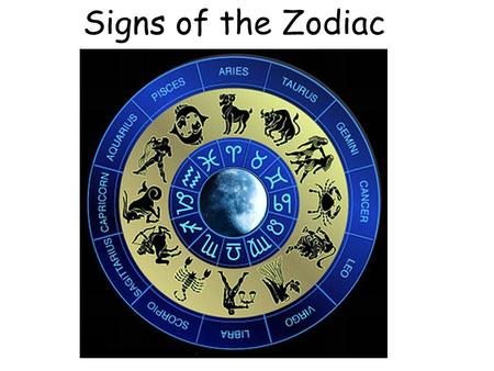 Signs of the Zodiac.