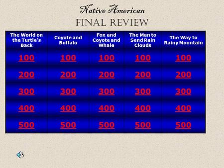 Native American final review