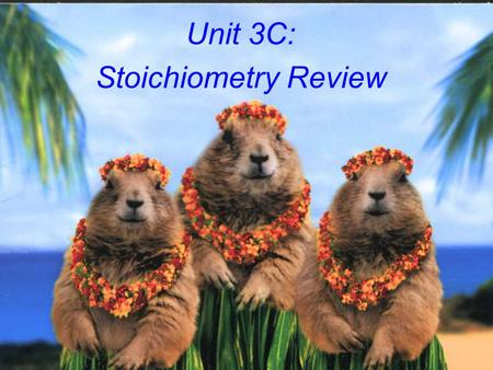 Unit 3C: Stoichiometry Review The Mole Atoms are so small, it is impossible to count them by the dozens, thousands, or even millions. To count atoms,