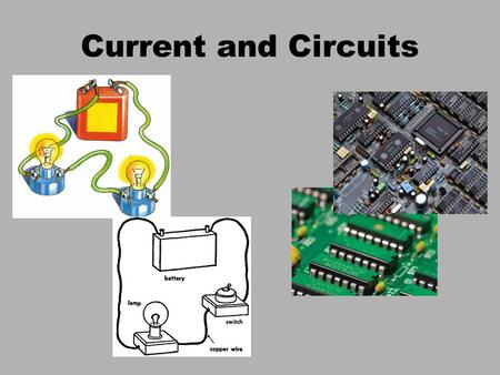 Current and Circuits. Current current: the flow of charged particles. E Current is measured in Amperes (A) which is made of the unit of a Coulomb/sec.