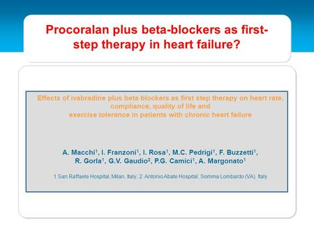 Procoralan plus beta-blockers as first-step therapy in heart failure?